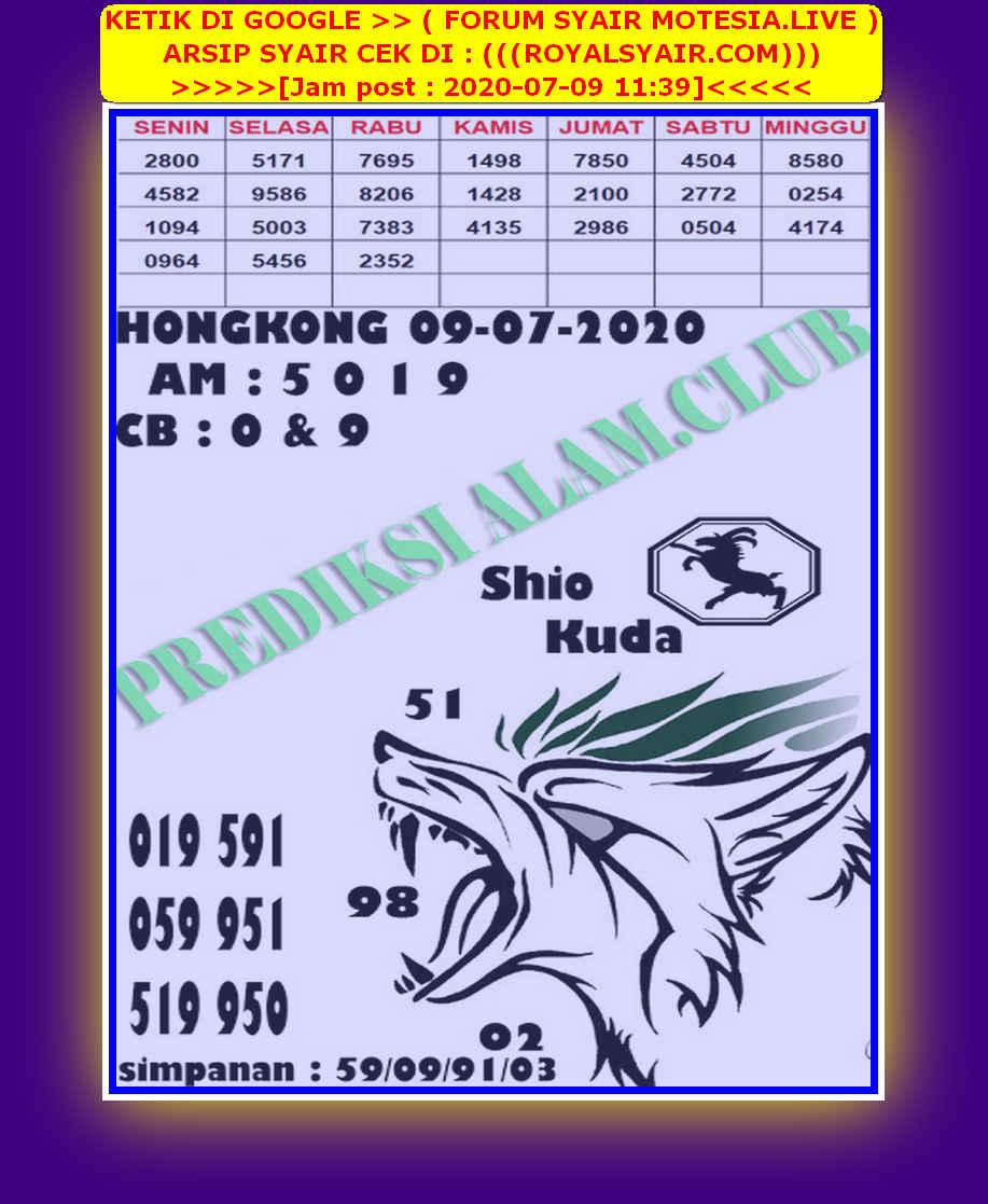 Kode syair Hongkong Kamis 9 Juli 2020 262