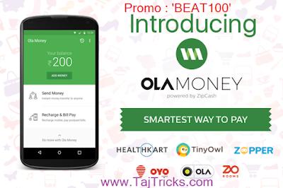 Ola Money - Rs.100 Cashback on Money Deposit on Rs.999 (New User)