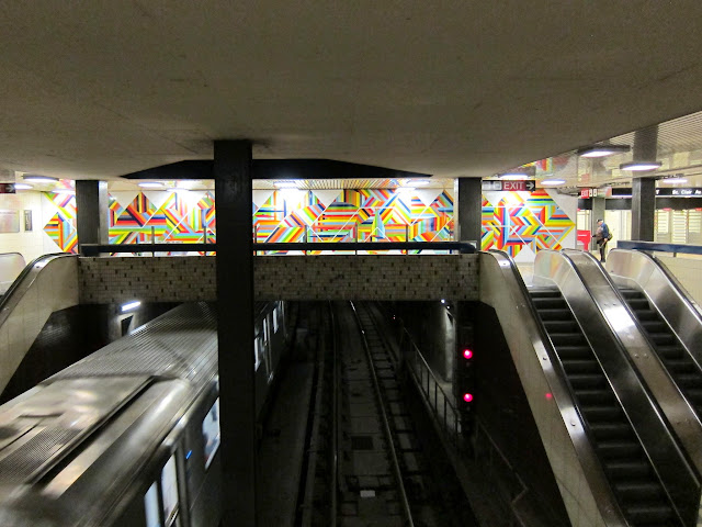 Gordon Rayner's enamel mural Tempo at St. Clair West station