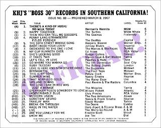 KHJ Boss 30 No. 88 - March 8, 1967