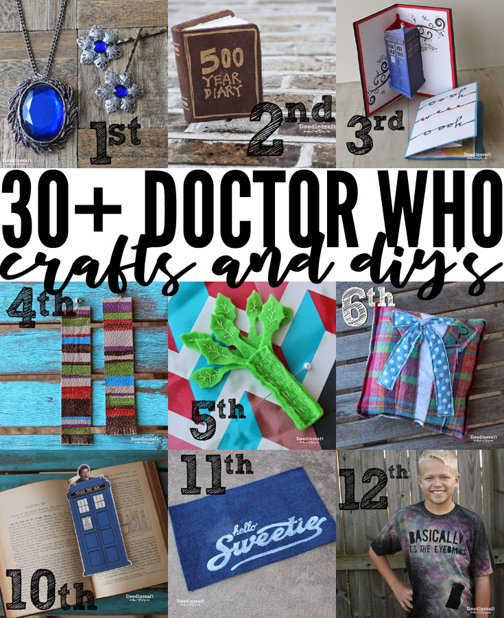 More than 30 amazing Doctor Who themed crafts and DIY's.