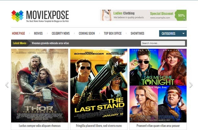 Free Download Moviexpose Responsive Blogger Template