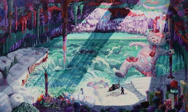 "by Eguchi Ayane, ""Theater"", 2017, oil on canvas | imagenes surrealismo pop japones, obras de arte, pinturas, cool art pictures."
