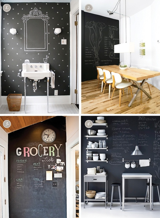 Painting the Kitchen in Chalkboard Paint | 17 Apart