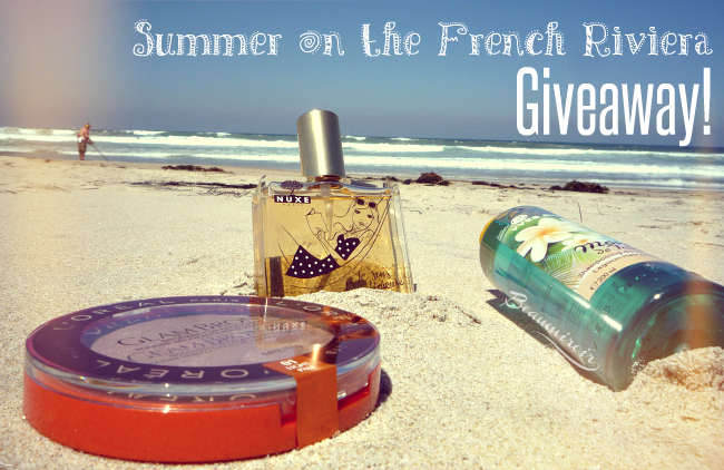 Summer giveaway! Win a set of French beauty products that will turn your summer into a French Riviera vacation!