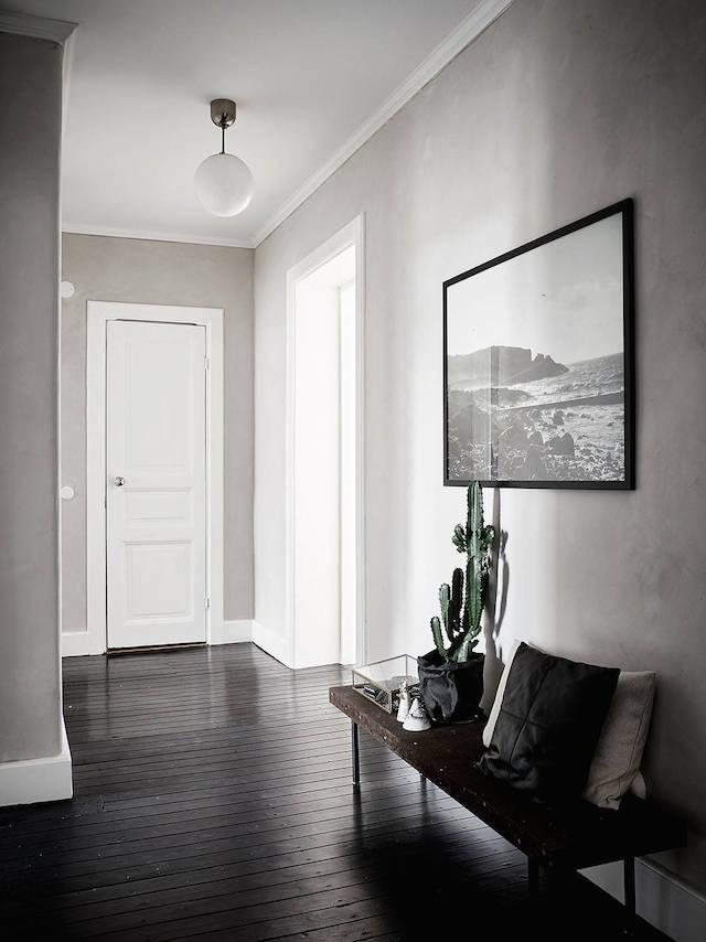 interieur met zwarte vloer