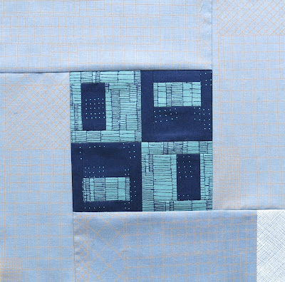 Modern sampler quilt - Block #18 - Inspired by Tula Pink City Sampler