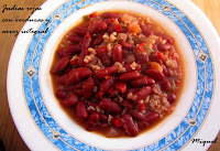 Judías rojas con verduras y arroz integral