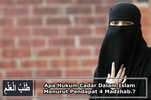 Apa Hukum Cadar Dalam Islam Menurut Pendapat 4 Madzhab.?