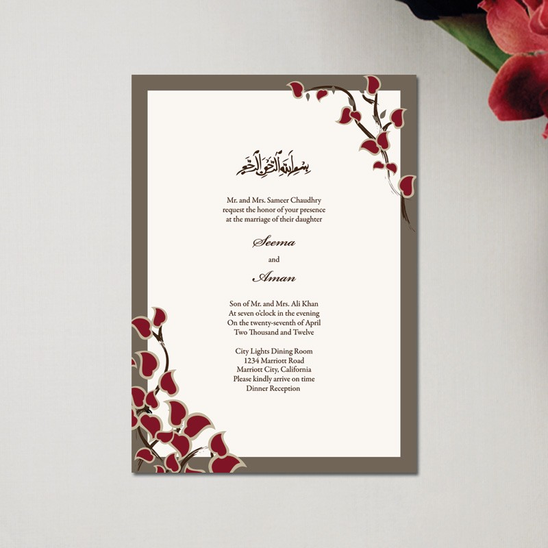 for a muslim wedding two wedding invitations are made this is because every muslim marriage has two separate occasions namely the nikaah and the - Muslim Wedding Cards