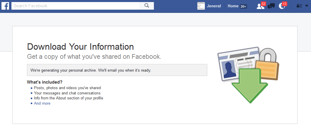 Download Your Facebook Data: How To Backup A Copy Of Your Facebook Information 2