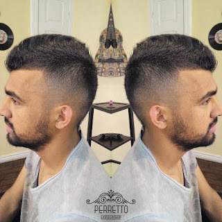 Faux Hawk Taper Fade Haircut