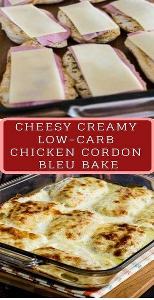 Cheesy Creamy Low-Carb Chicken Cordon Bleu Bake Recipe