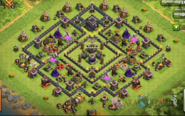Base Farming TH 9 COC Update Bomb Tower Terbaru 2017 Tipe 22
