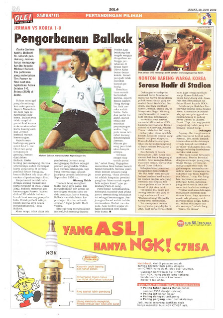 JERMAN VS KOREA 1-0 PENGORBANAN BALLACK