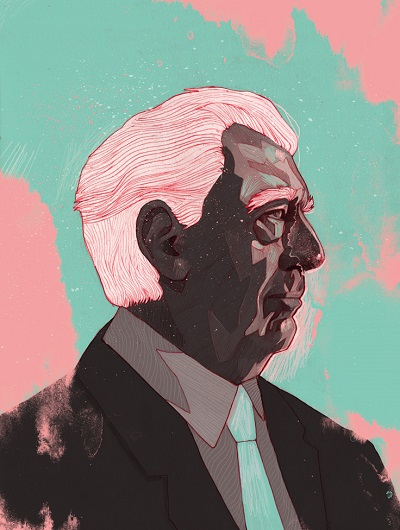 """Mario Vargas Llosa"" by Patryk Hardziej, 2017 
