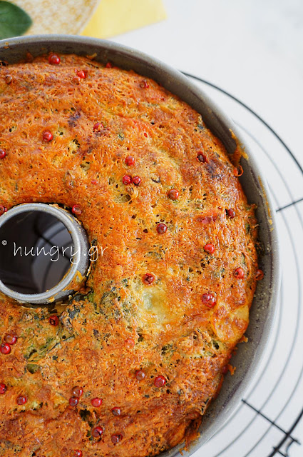 Spinach, Rocket Savory Cake