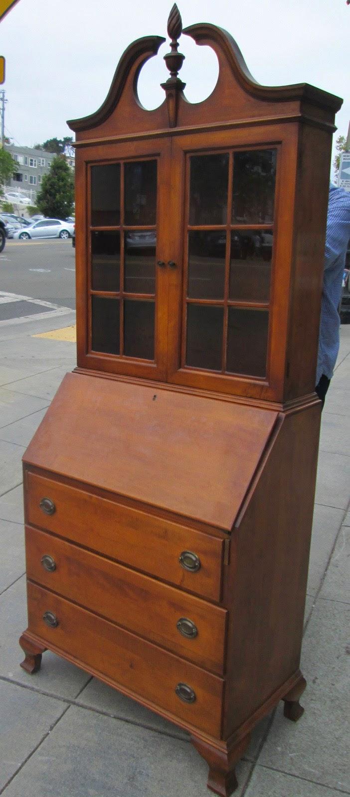 Sold Vintage Maple Secretary Desk 160