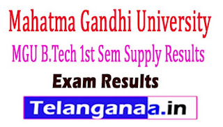 MGU B.Tech 1st Sem Supply Results 2017