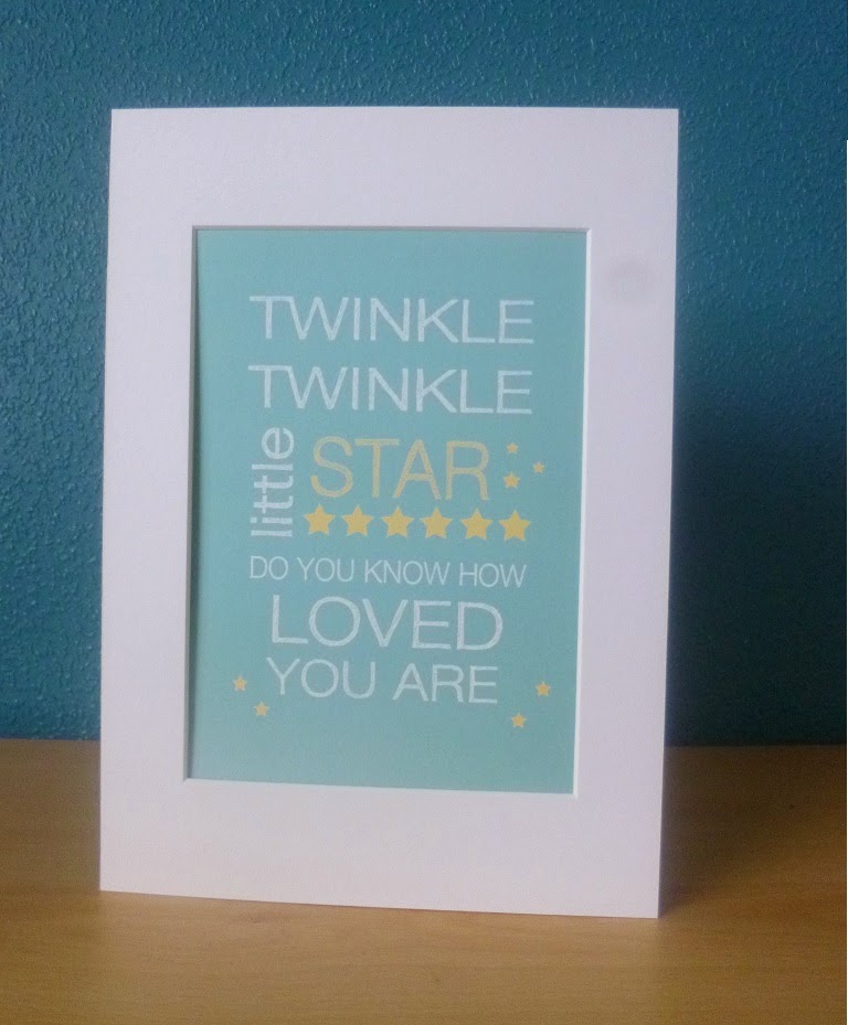 Yorkshire Blog, Mummy Blogging, Parent Blog, Twinkle Twinkle Print, Little Sweet Designs, Review, Print,