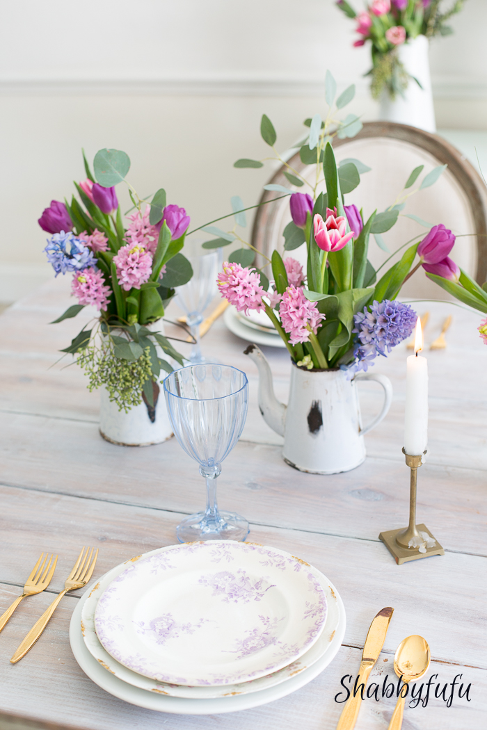 beautiful pastel table decorations