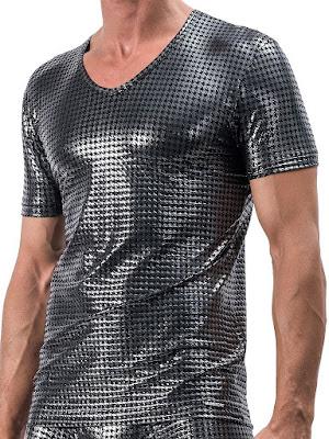 Manstore V-Neck Tee Low M554 T-Shirt Zinc Menswear Mens Fashion Gayrado Online Shop