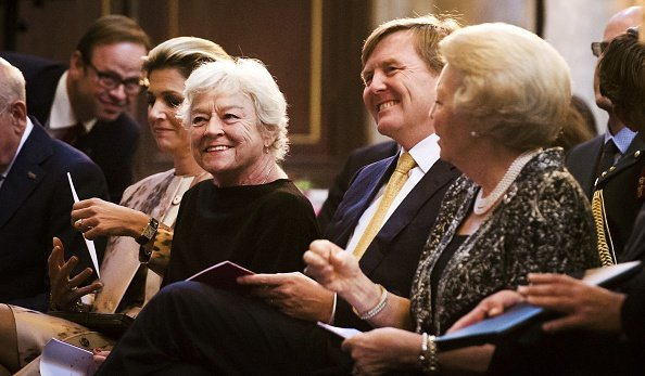 King Willem-Alexander with Queen Maxima and Princess Beatrix