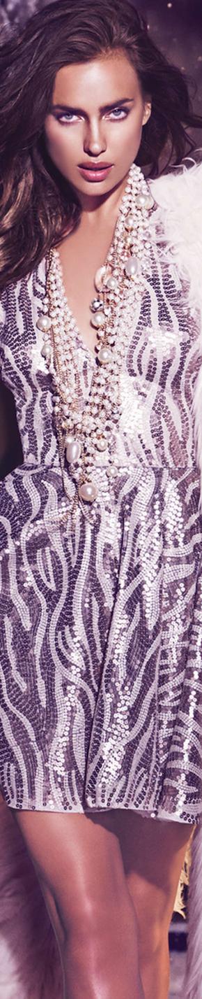 Irina Shayk Bebe V-Neck Fit & Flare Dress