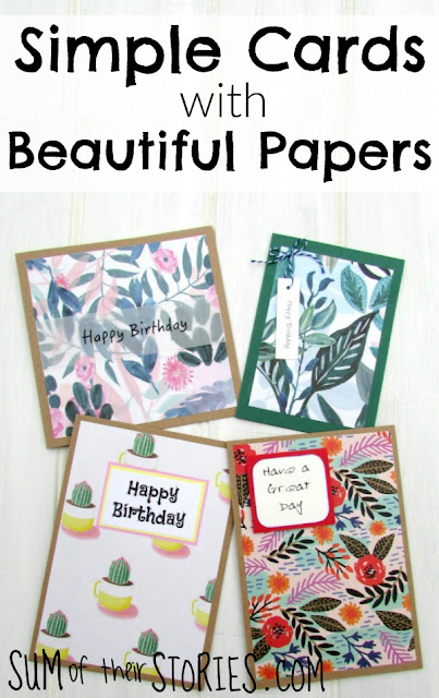 Make Simple cards with  Beautiful papers