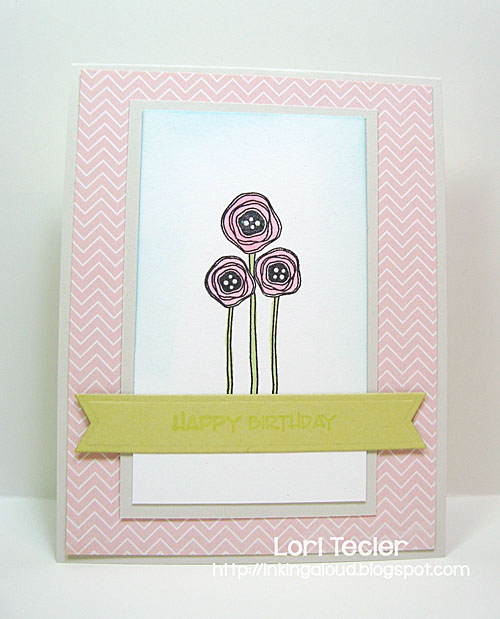 Pastel Poppy Birthday card-designed by Lori Tecler/Inking Aloud-stamps from Verve Stamps