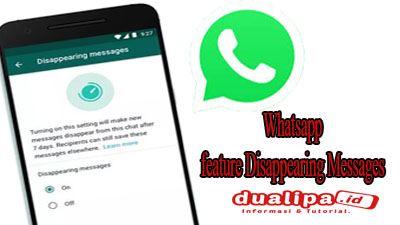 Kirim Pesan Hapus otomatis Whatsapp feature Disappearing Messages
