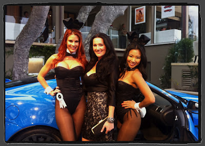 Jaime Faith Edmondson and Hiromi Oshima at Jaguar Playboy Party