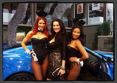 Jaime Faith Edmondson and Hiromi Oshima at Jaguar Playboy Party