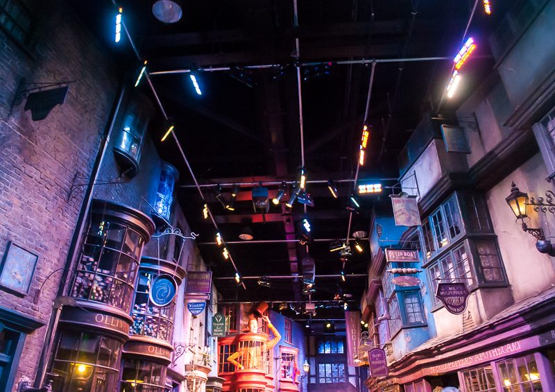 Diagon alley in Harry Potter Studios, Engalnd