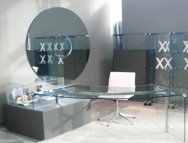best buy modern glass home office furniture Sydney for sale