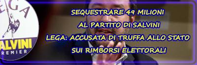 """La Corte di Cassazione ha accolto il ricorso della procura di Genova contro la Lega, stabilendo, come si legge nelle motivazioni, che ogni somma di denaro riferibile al partito guidato da Matteo Salvini, deve essere sequestrata """"ovunque venga rivenuta"""" (quindi su conti bancari, libretti, depositi) fino a raggiungere 49 milioni di euro."""