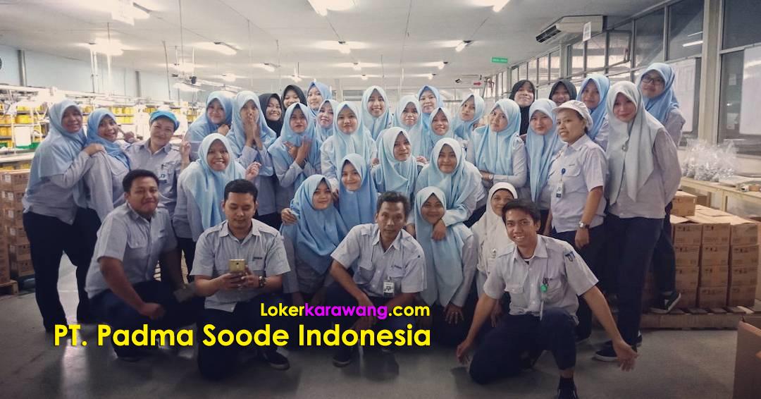 Lowongan Kerja PT. Padma Soode Indonesia Via Web Resmi