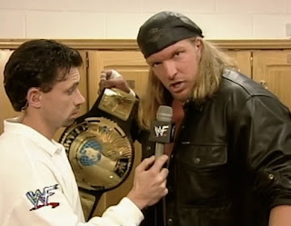 WWE / WWF Rebellion 1999 - Michael Cole interviews WWF Champion Triple H