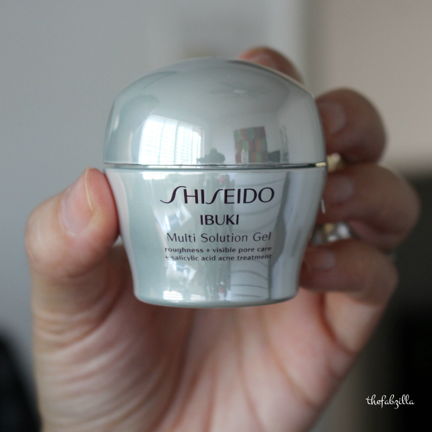 Shiseido Ibuki Multi Solution Gel, review, treatment for acne and aging skin