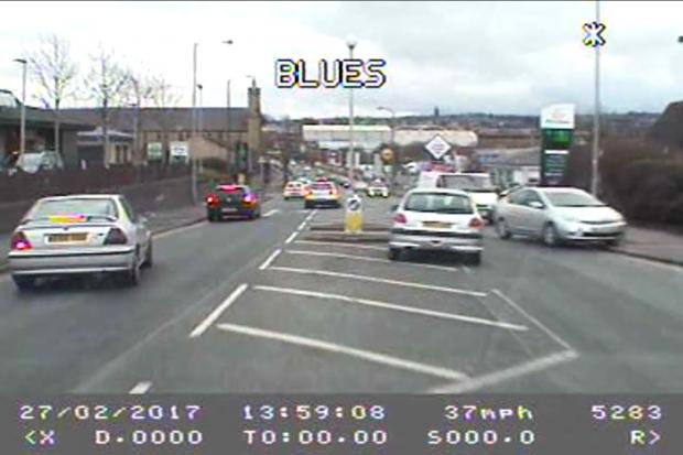 VIDEO: Unlicensed danger driver Usman Iqbal, who led police on chase through Thornton Road area of Bradford, spared jail
