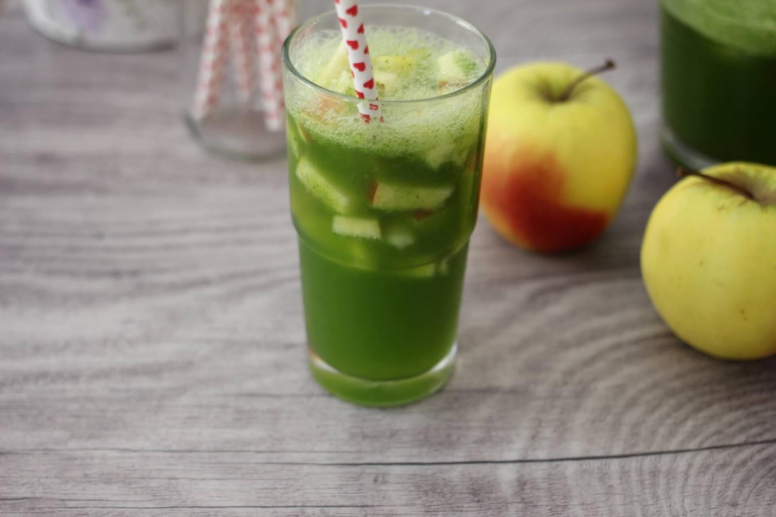 Basilikum Limonade mit Apfel