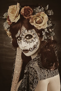 day of the dead makeup earth tones