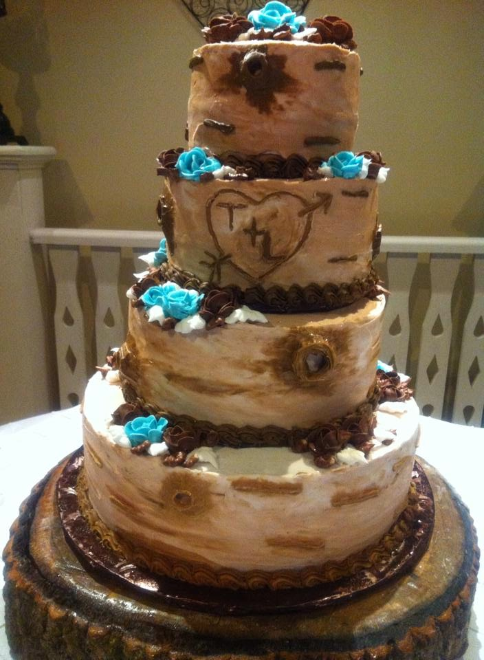 Life And Other Shenanigans Rustic Tree Bark Wedding Cake