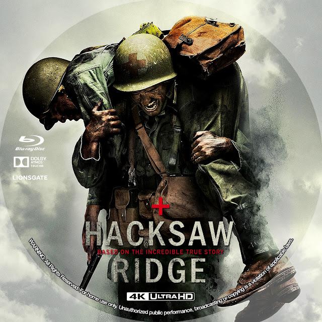 Hacksaw Ridge 4k Bluray Label