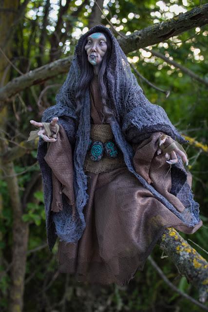 Dark lady faerie ooak fantasy doll