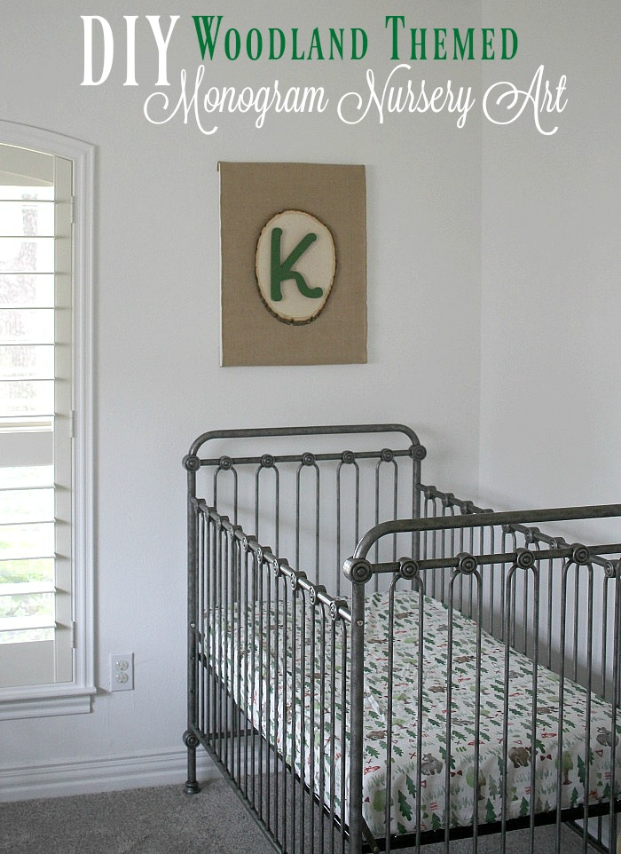 A DIY monogram for your baby's nursery to personalize it and fit your nursery theme