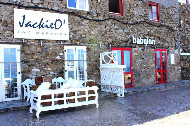 Jackie O bar Mykonos