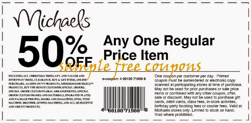 Michaels Coupons September 2014