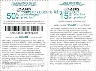 Joann coupons february