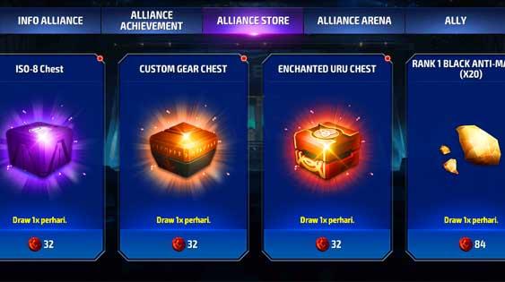Alliance store marvel future fight